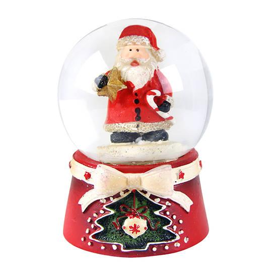 Mini SnowGlobe, Scandinavian Santa 5cm