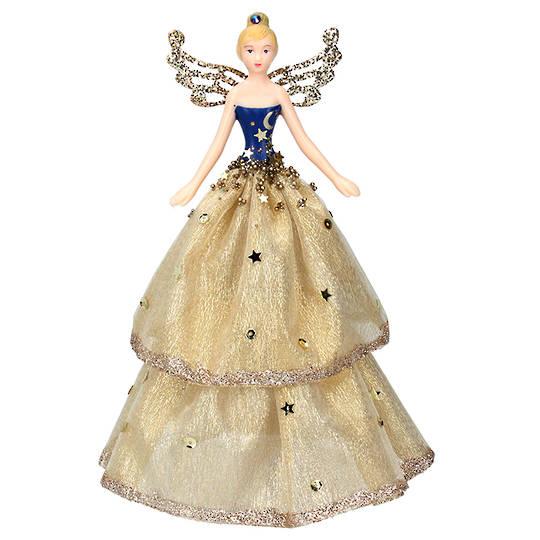 Cream and Cobalt Starlight Fairy Topper 18cm