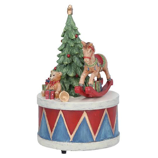 Music Box, Drum with Tree 15cm