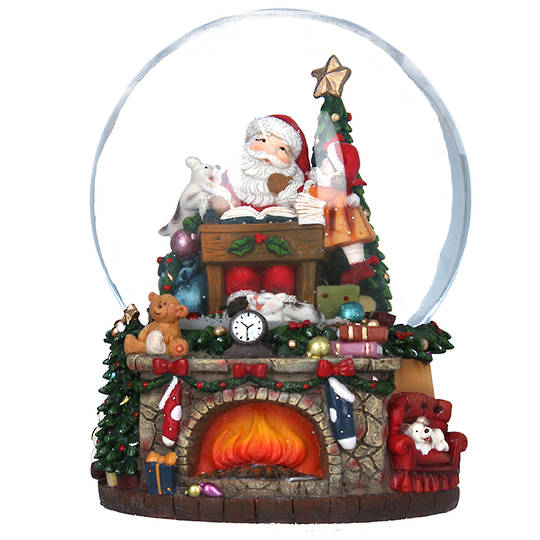 Snow Globe, Fireplace Scene 20cm