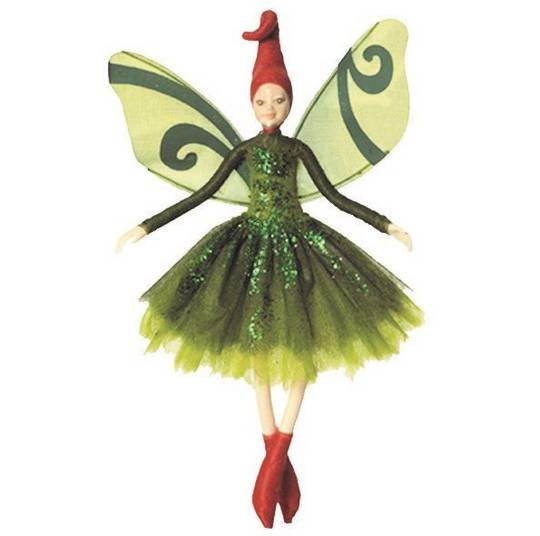 NZ Fairy, Green Tiki Fairy 13cm