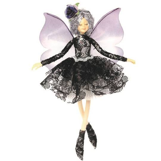 NZ Fairy, Black French Lace 13cm