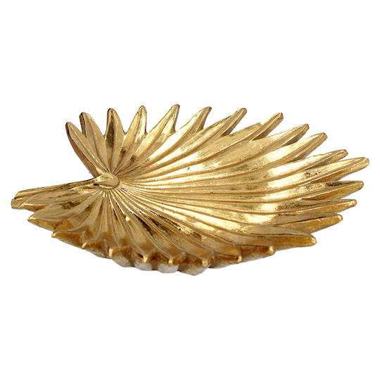 Resin Gold Palm Dish 21cm