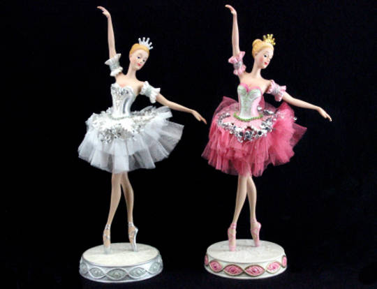Resin and Fabric Ballerina in Pink Tutu 30cm