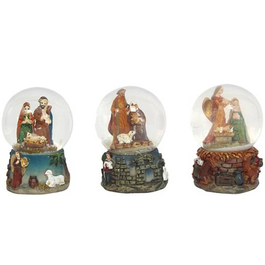 Mini Snow Globe, Nativity 5cm