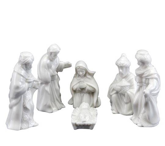 Standing Ceramic Mini Nativity Set 6