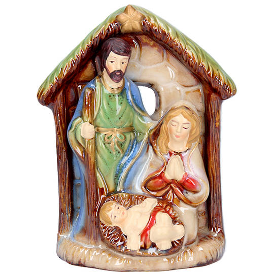 Ceramic Nativity House 11cm