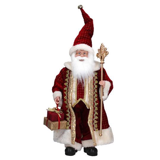 Fabric Burgundy Classic Santa 70cm