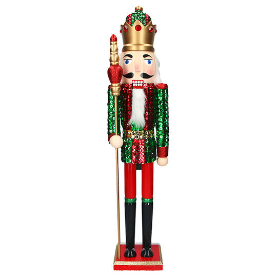 Wood Nutcracker, Green Solider 62cm