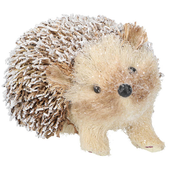Snowy Bristle TwoTone Brown Hedgehog 13cm