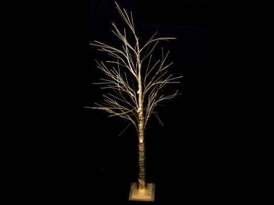 Matt Gold Spiky Tree 125cm