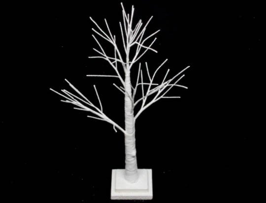 White Spiky Tree 70cm