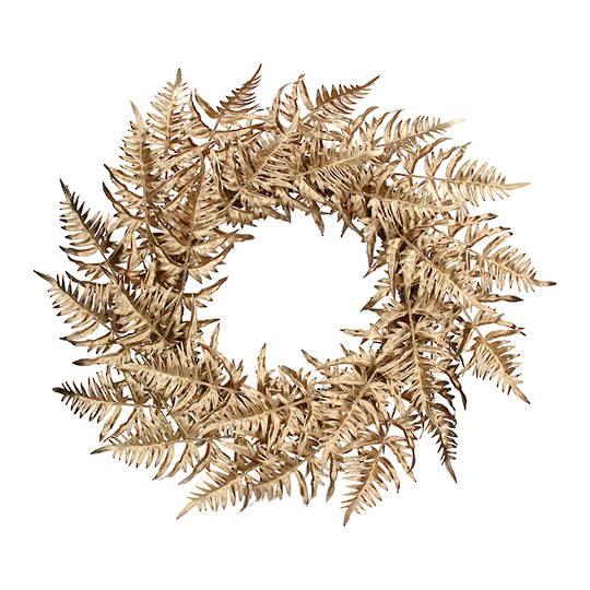 Gold Fern Wreath 56cm