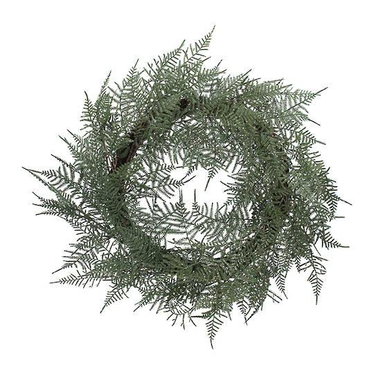 Green Fern Wreath 60cm