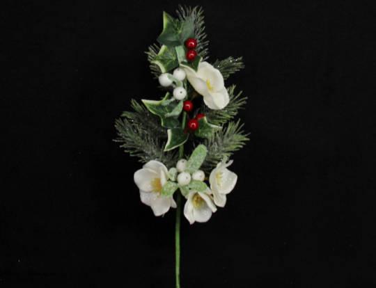 Christmas Rose, Fir & Berry Pick 25cm