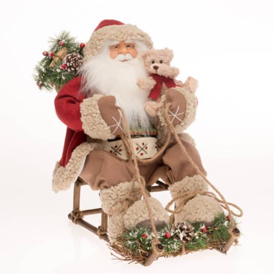 Santa on Sleigh, Red Coat