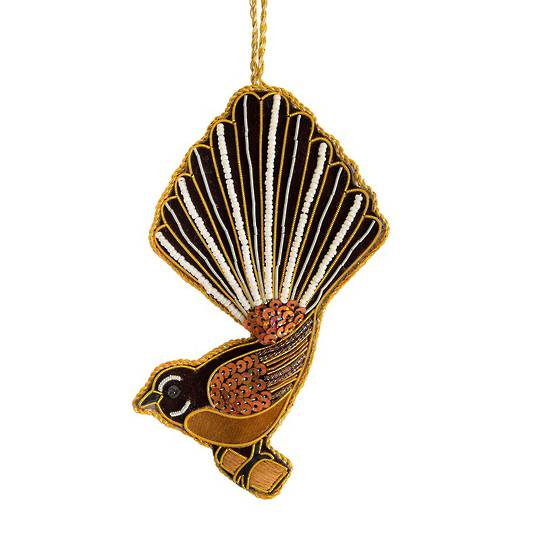 Hanging NZ Bird, Fantail / Piwakawaka SOLD OUT