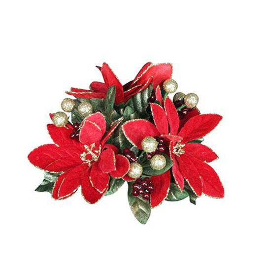 Poinsetta Candle Ring 13cm