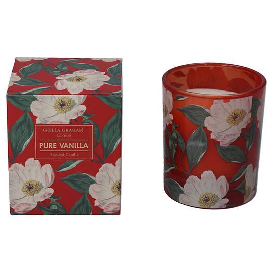 White Xmas Rose, Candle Jar 10cm