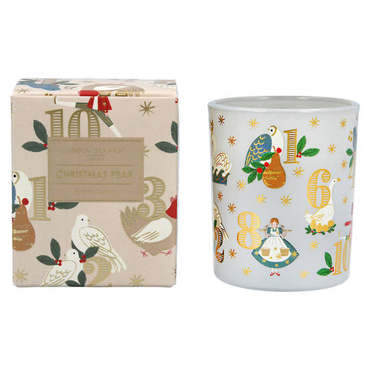 12 Day of Xmas, Candle Jar 8cm