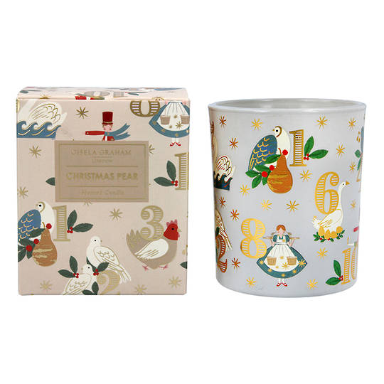 12 Day of Xmas, Candle Jar 10cm
