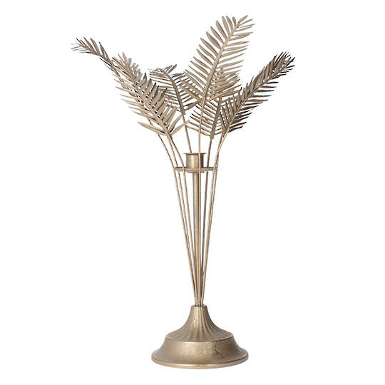 Metal Gold Palm Leaf C/H 41cm