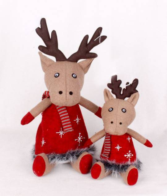 Plush Sitting Starry Deer