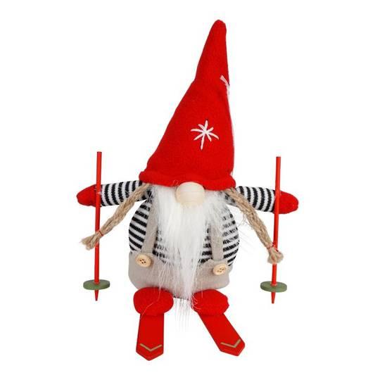 Plush Alexis the Santa with Skis