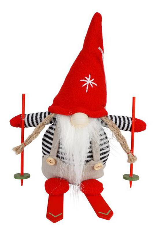Plush Alexis the Santa with Skis