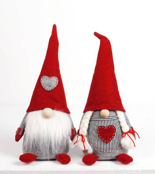 Plush Nordic Mr or Mrs Xmas Gnome Med