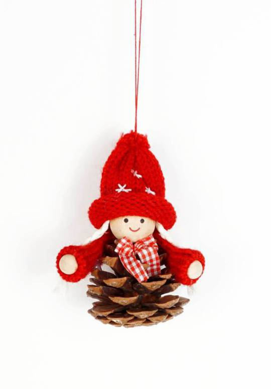 Scandi Pincone Child with Knit Hat