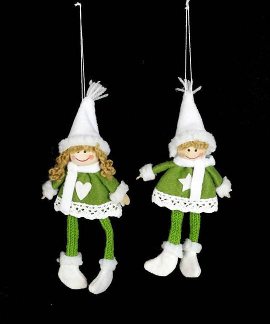 Plush Hanging Green Nordic Child