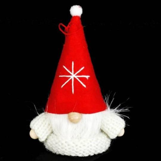 Santa White Knit Jumper, Red Hat