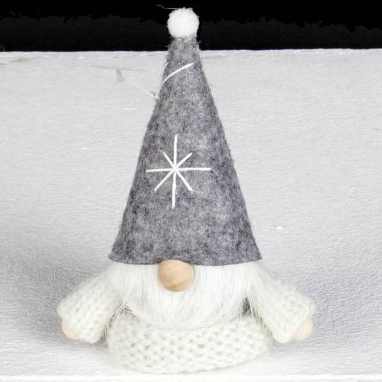 Santa, White Knit Jumper, Grey Hat