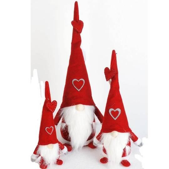 Plush Santa Amore, Red Hat