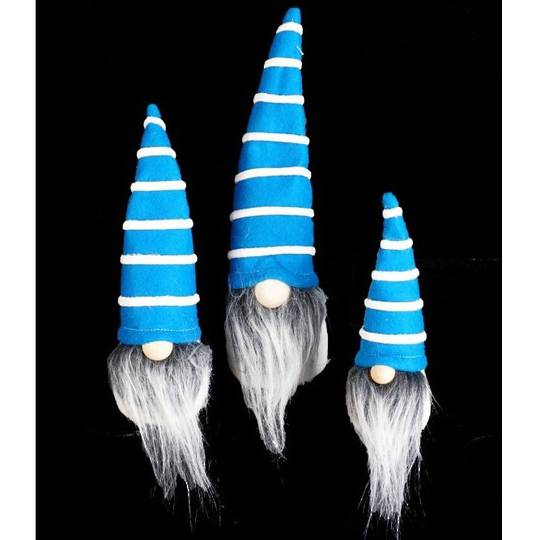 Mini Santa Blue Hat