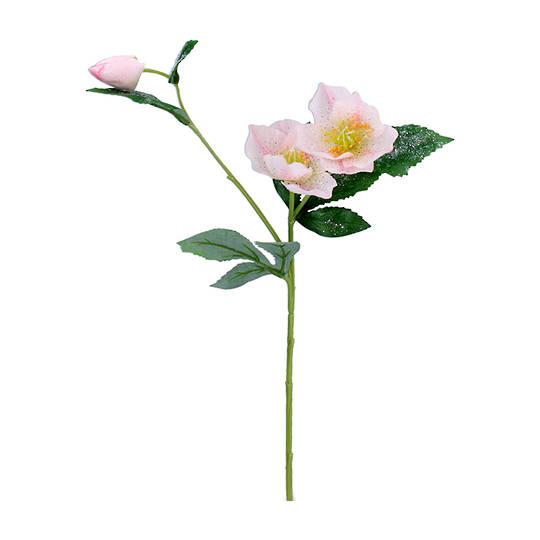 Pink Xmas Rose Spray 45cm
