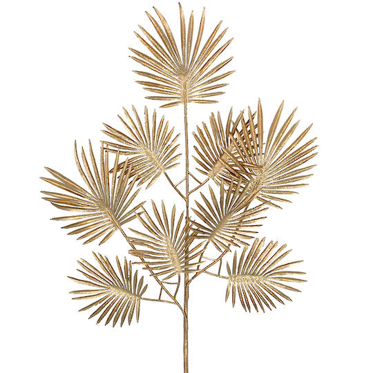 Acrylic Gold Palm Leaf Spray 65cm