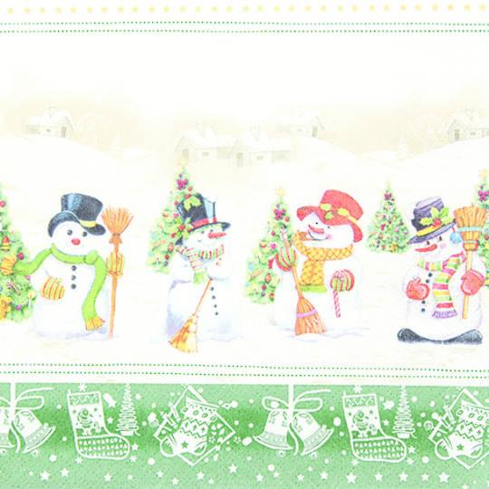 Paper Napkins 33cm, Snowmen Meeting