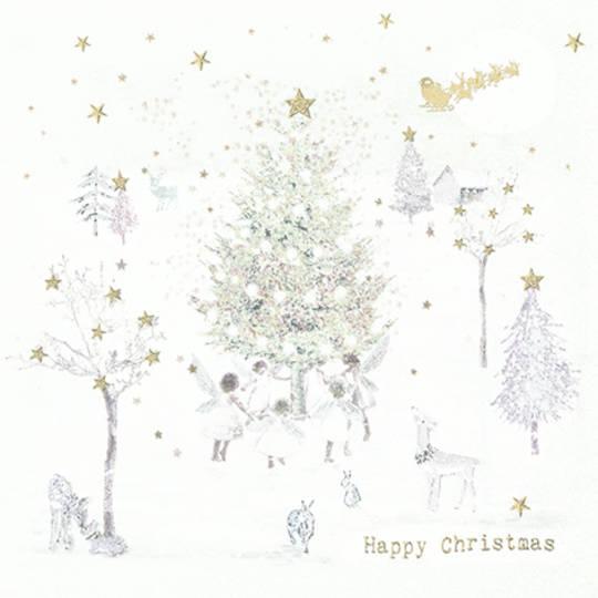 Paper Napkins 33cm, Happy Christmas