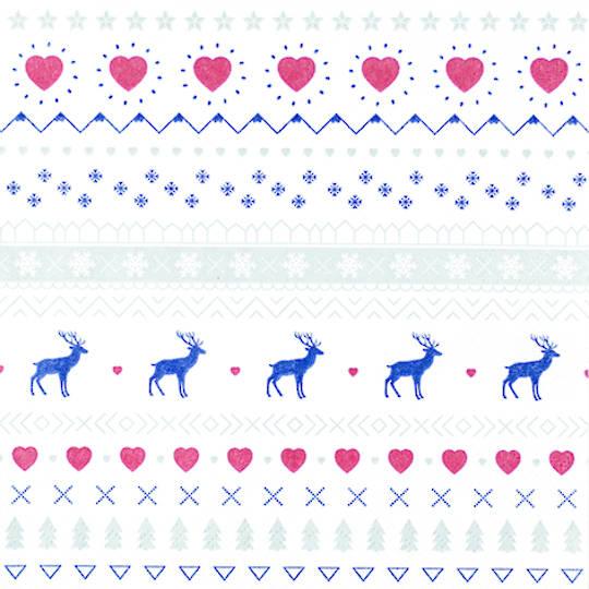 Paper Napkins 33cm, Winter Pattern