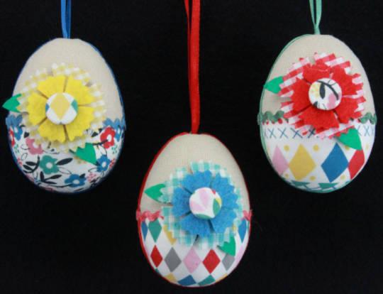 Fabric Hanging Egg 7cm, each