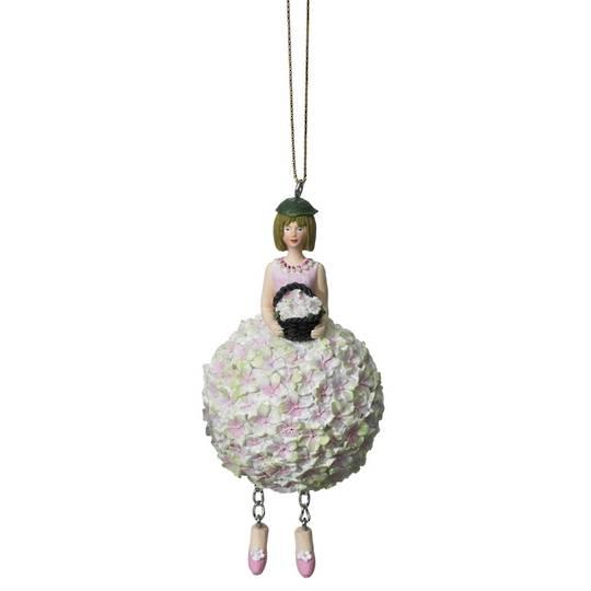 Flower Girl Hydrangea Pink/Green 11cm