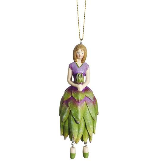 Flower Girl Protea Green/Lilac 12cm