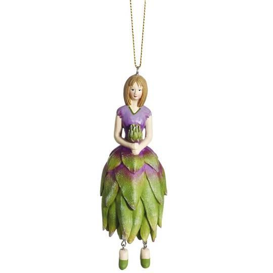 Flower Girl Protea Green/Lilac 12cm