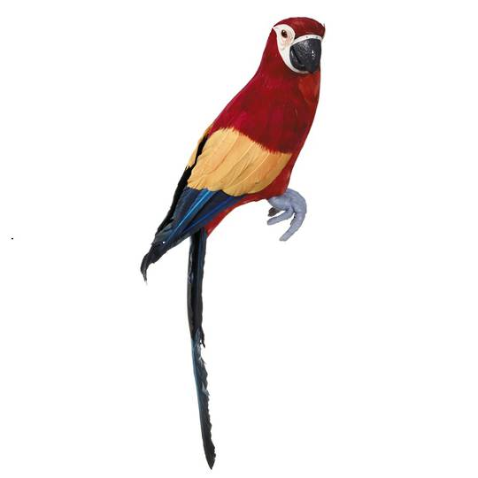 Perching Macaw Red 44cm