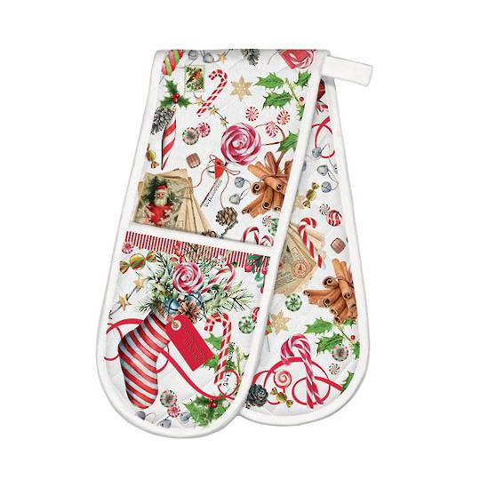 Christmas Peppermint Double Oven Glove