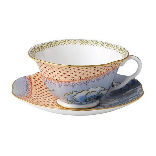 Wedgwood Bloom Low Blue Cup & Saucer