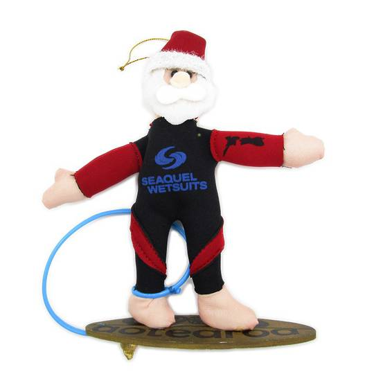 Iconic Fabric Surfer Santa