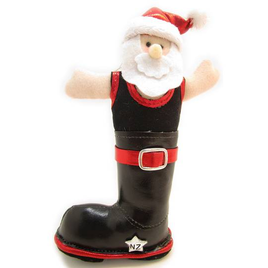 Iconic Fabric Gumboot Santa